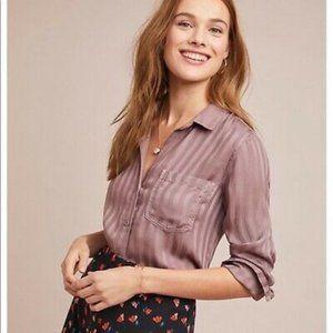 Anthropologie Cloth & Stone Purple Stripe Long